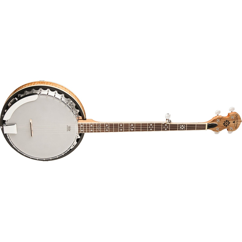 Oscar Schmidt OB5SP 5-String Banjo with Remo Head, Spalted Maple Resonator, & Gloss Finish