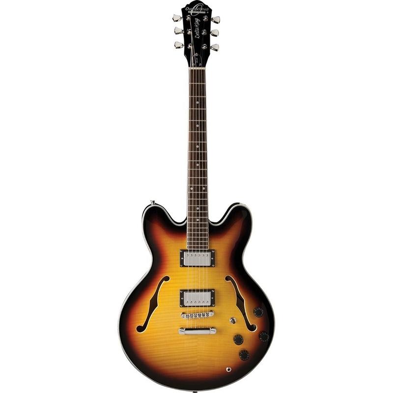 Oscar Schmidt OE30TS Semi Hollowbody Electric Guitar - Tobacco Sunburst