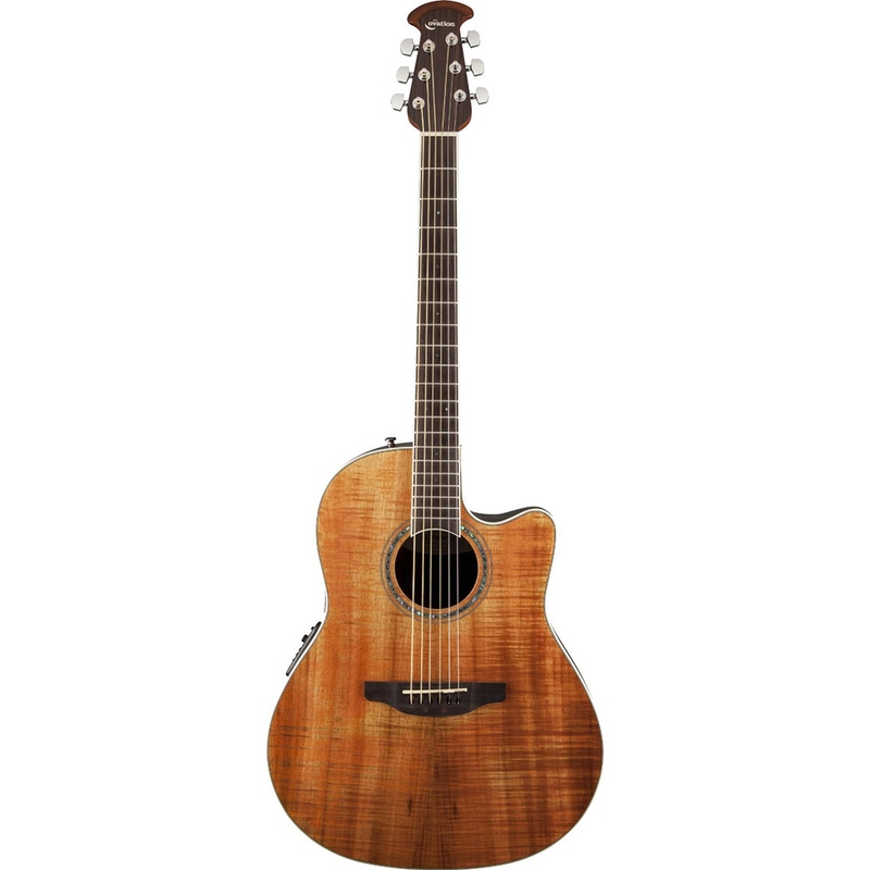 Ovation CS24P Celebrity Standard Plus Mid Depth Cutaway Figured Koa Top Acoustic-Electric Guitar - Natural
