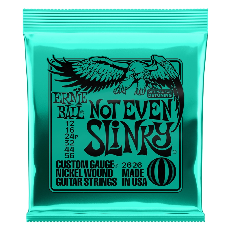 Ernie Ball 2626 Not Even Slinky Nickel Wound Electric Guitar Strings (12-56)