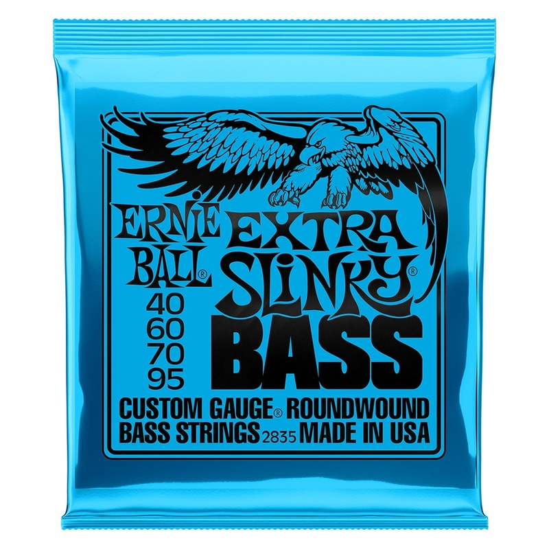 2-Pack Ernie Ball 2835 Extra Slinky Electric Bass Strings (40-95)