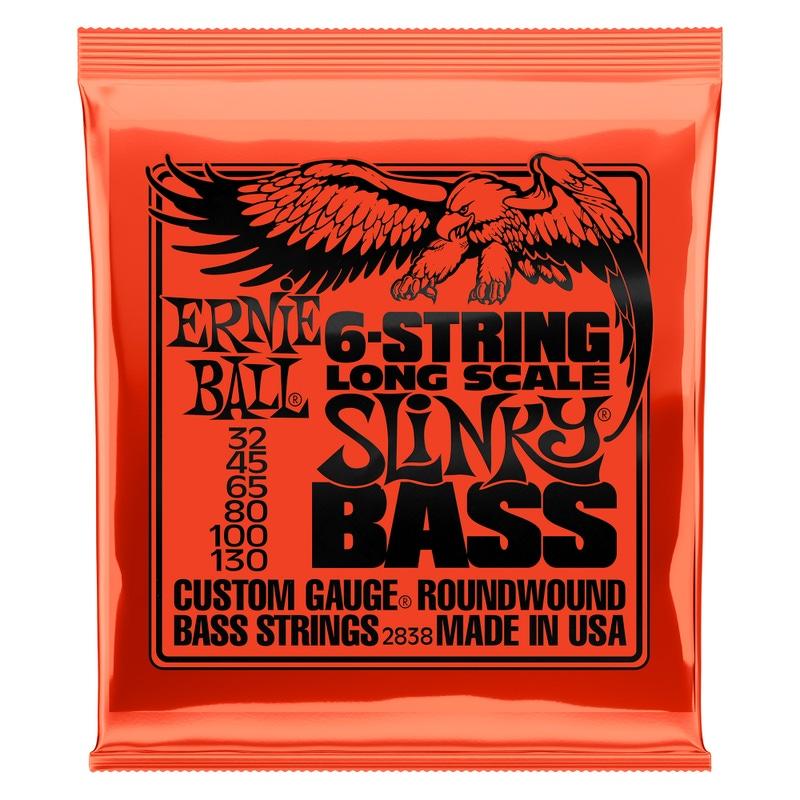 Ernie Ball 2838 6-String Slinky Long Scale Electric Bass Strings (32-130)