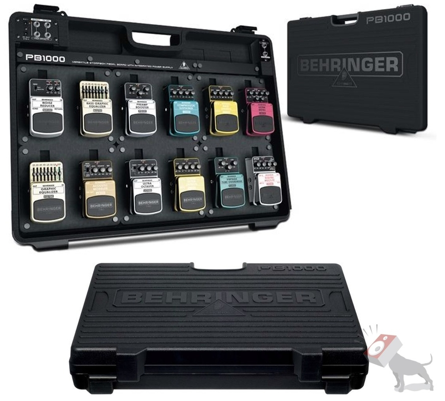 Behringer PB1000 Universal Effects Pedal Floor Board with Integrated Power Supply