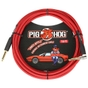 Pig Hog PCH10CAR Instrument Cable, Straight - Angle, 10ft, Candy Apple Red