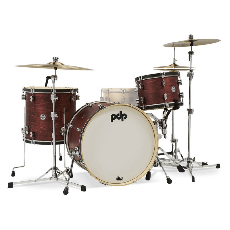 PDP Drums PDCC2213OB Concept Maple Classic Shell Pack, 16x22 Kick w/ 9x13 & 16x16 Toms, Ox Blood Stain
