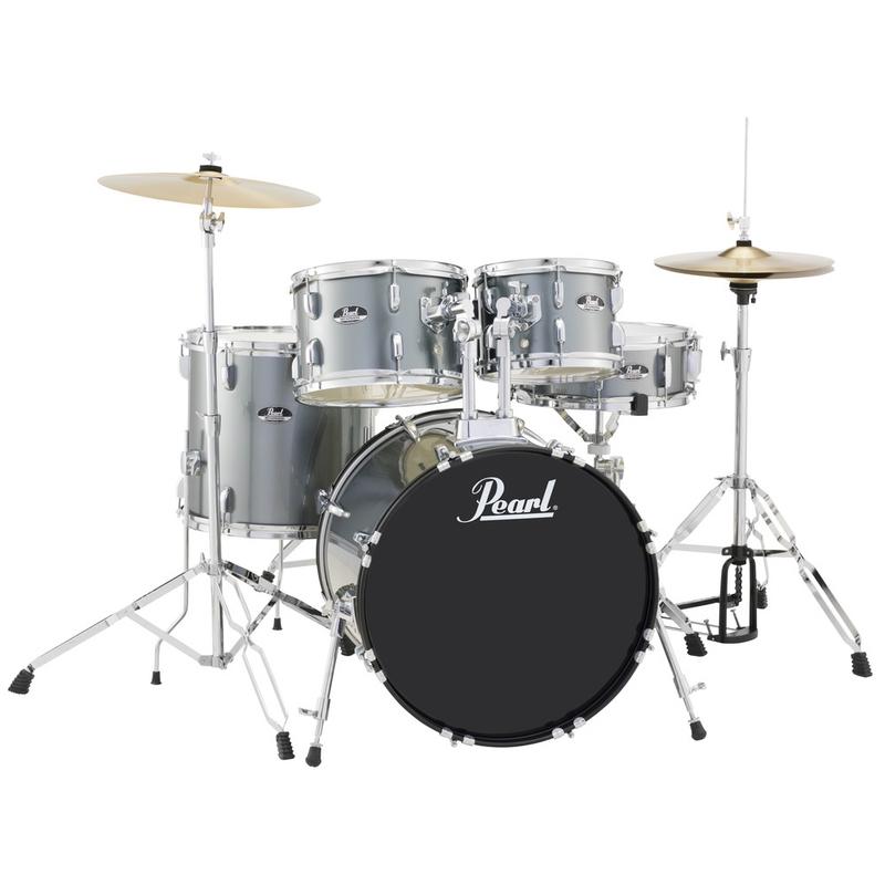 Pearl RS505C/706 5-Piece Drum Set / Kit w/ Hardware & Cymbals, Charcoal Metallic