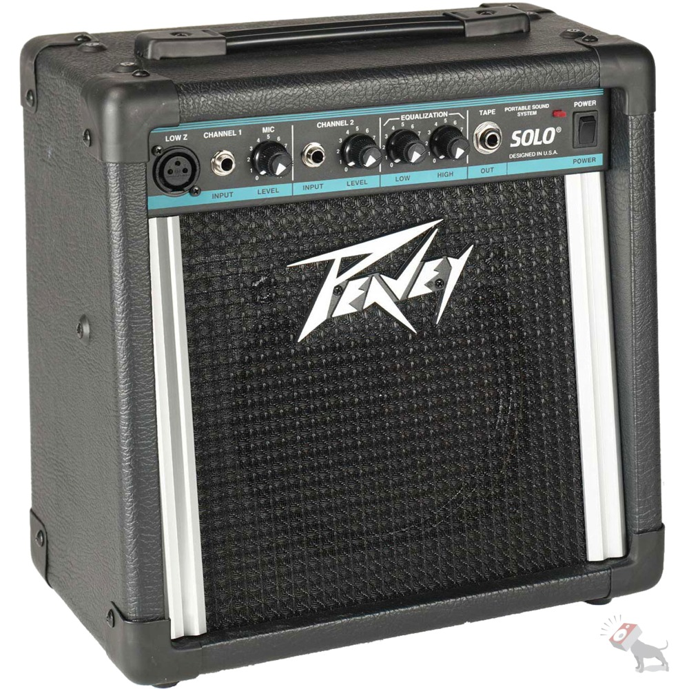 peavey solo portable pa 2 channel powered sound system battery or ac ebay. Black Bedroom Furniture Sets. Home Design Ideas