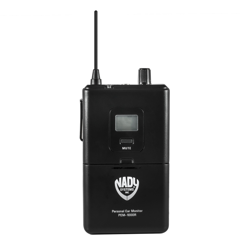 Nady PEM-1000 RX Receiver for UHF Wireless Professional In-Ear Monitor System; Band 1 (673-685.375 MHz)