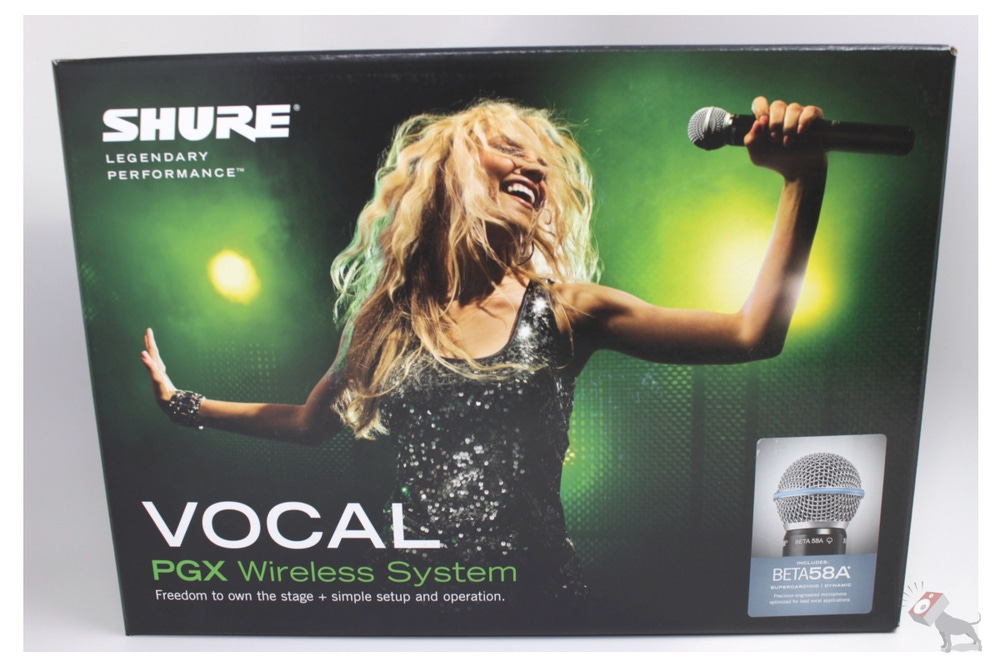 Shure PGX24/Beta 58 Wireless Handheld Vocal Microphone System UHF