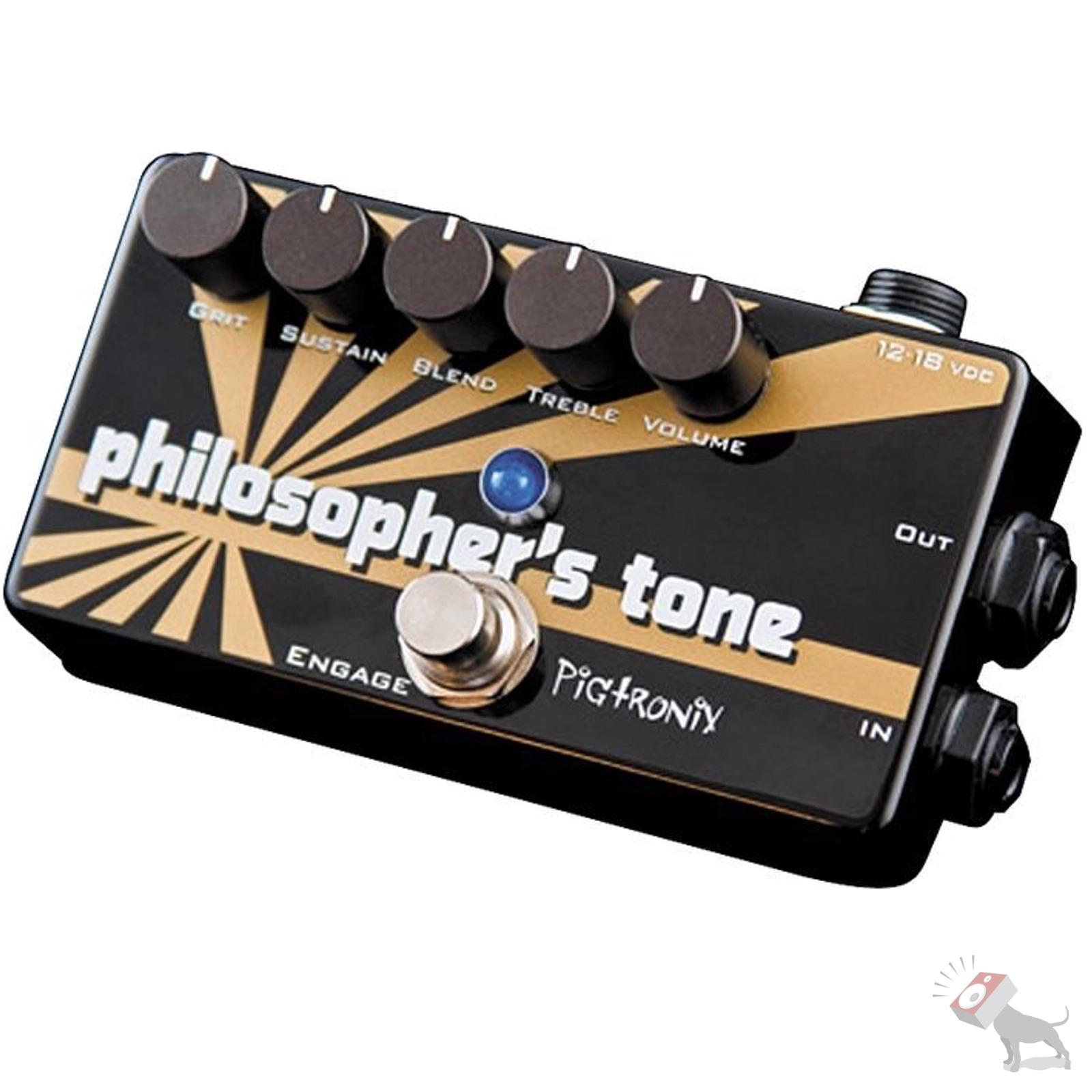 pigtronix philosopher 39 s tone compressor sustain distortion guitar effects pedal ebay. Black Bedroom Furniture Sets. Home Design Ideas