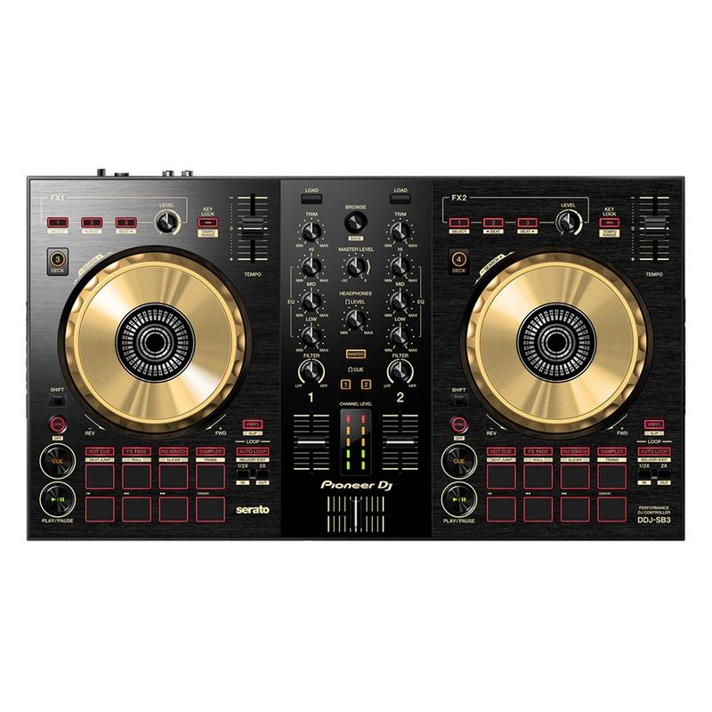 Pioneer DJ DDJ-SB3-N 2-Deck Serato DJ Controller w/ Built-in Filtering, Gold