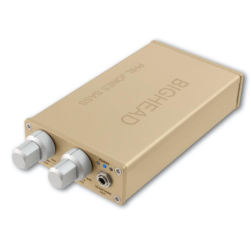 Phil Jones Bass BigHead Mobile Headphone Amp with D/A Converter (Gold)