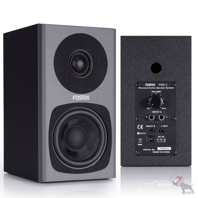 Fostex PM0.3B 2-Way Powered Personal Active Monitor Speaker System Pair PM03B