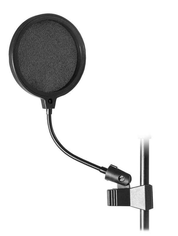 "6"" Stageline MPF6C MICROPHONE POP FILTER Screen w/ Clamp Gooseneck Popfilter"