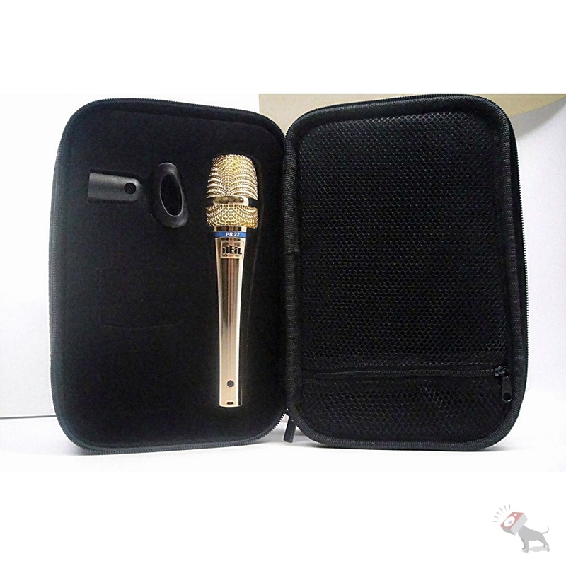 Heil Sound PR-22 Low Handling Noise Vocal Microphone and Mic Case PR22 Gold