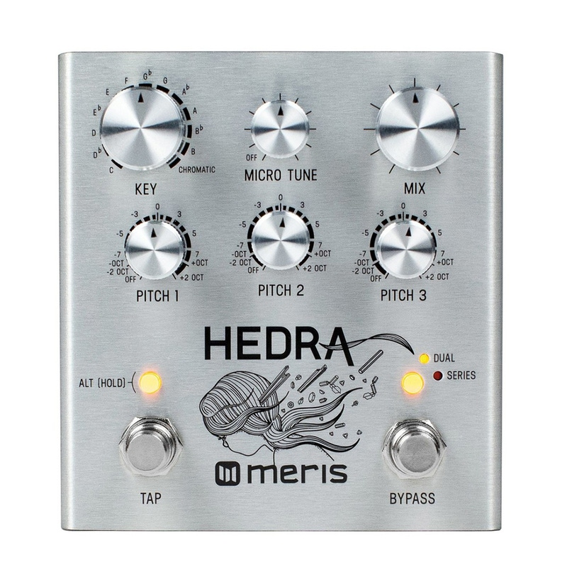 Meris Hedra 3-Voice Rhythmic Pitch Shifter Guitar Effects Pedal