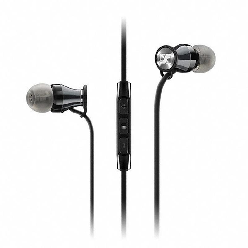 Sennheiser HD 1 Momentum In-Ear Headphones for iOS Devices (Black/Chrome)