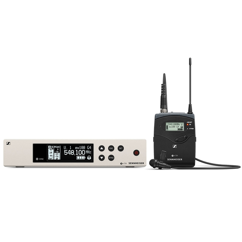 Sennheiser EW 100 G4-ME2 Wireless Lavalier Microphone System; Band A (516-558 MHz)
