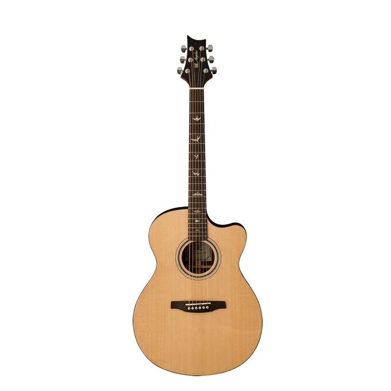 PRS Paul Reed Smith SE A30E Angelus Cutaway Acoustic/Electric Guitar with Hard Case - Natural
