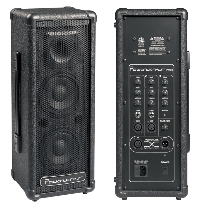 PowerWerks PW50 50-Watt Self-Contained Personal P.A. System PW 50