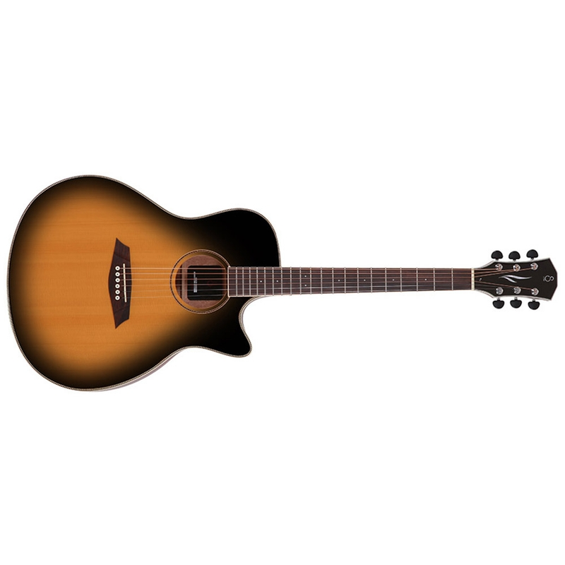 Sire R3 GZ VS Zebra 7 Original Cutaway Acoustic Electric Guitar, Vintage Sunburst