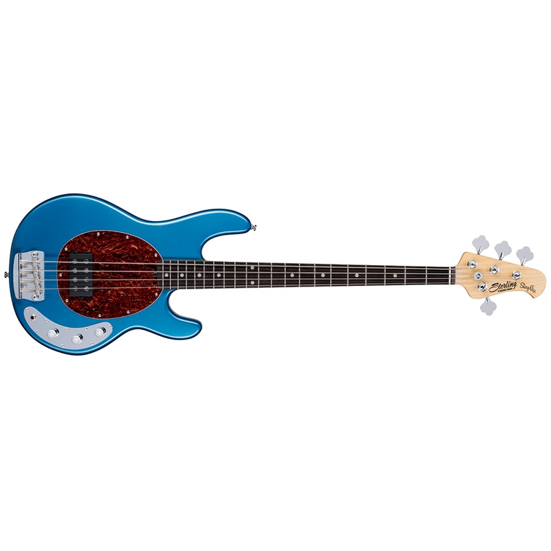 pitbull audio sterling by music man stingray ray24ca electric bass guitar toluca lake blue. Black Bedroom Furniture Sets. Home Design Ideas