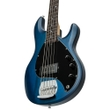Sterling by Music Man SUB Series Ray5 5-String Electric Bass - Transparent Blue Satin