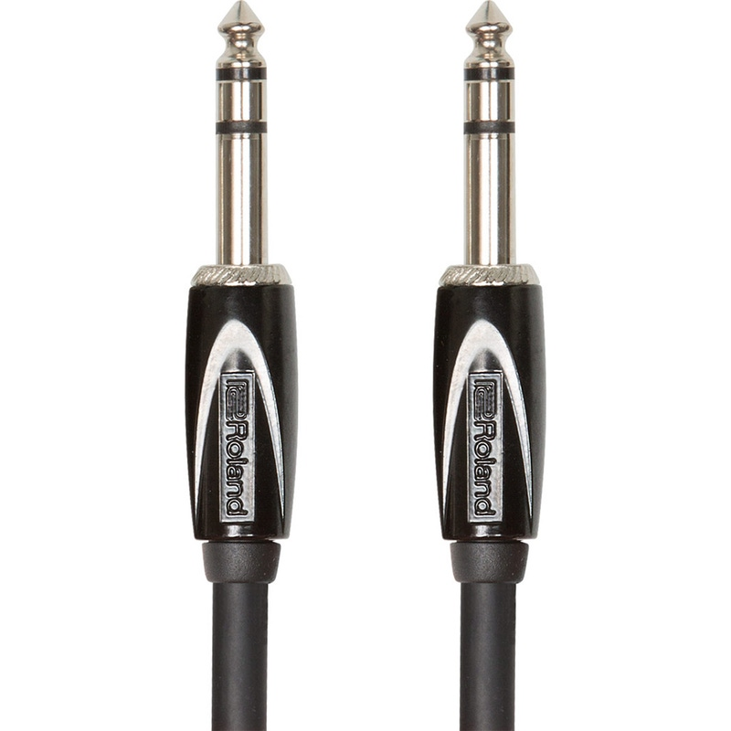 "Roland Black Series 1/4"" TRS to Same Balanced Interconnect Cable - 3 ft"