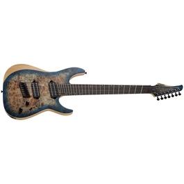 pitbull audio schecter guitars 1510 reaper 7 multiscale electric guitar satin sky burst. Black Bedroom Furniture Sets. Home Design Ideas
