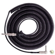 Lava Cable LCRC20R Retro Coil 20' Right-Angle to Straight Instrument Cable - Black