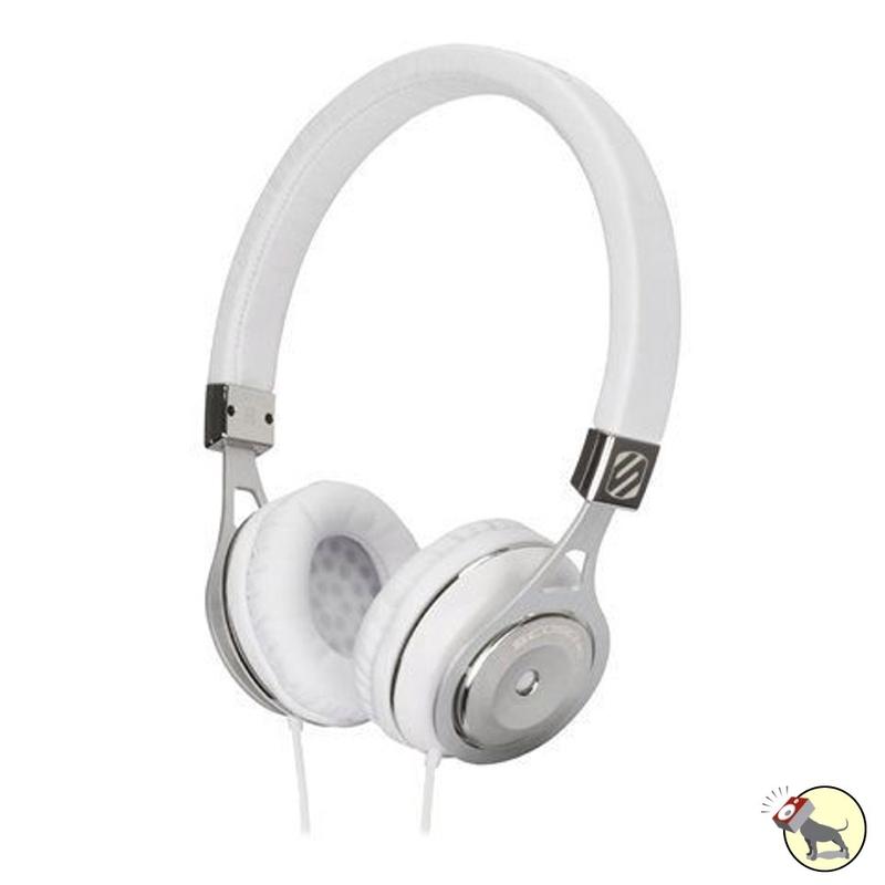 Scosche RH656M On-Ear Headphones with tapLINE Remote & Mic (White)