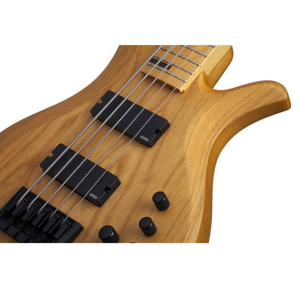 pitbull audio schecter riot 5 session electric 5 string bass guitar in aged natural satin finish. Black Bedroom Furniture Sets. Home Design Ideas