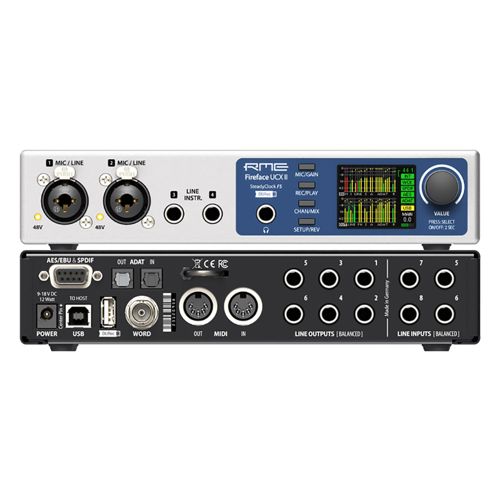 RME Fireface UCX II 20-In/20-Out USB 2.0 Audio Interface w/ 2 Preamps