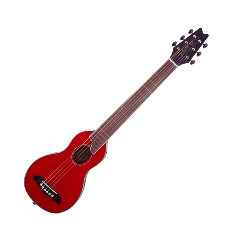 Washburn RO10R Rover Travel Acoustic Guitar (Red)