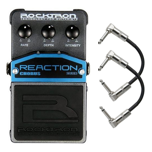 Rocktron Reaction Series Chorus Guitar Effects Pedal with Patch Cables