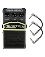 Rocktron Reaction Series Compressor Guitar Effects Pedal with Patch Cables
