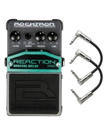 Rocktron Reaction Series Digital Delay Guitar Effects Pedal with Patch Cables