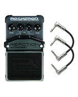 Rocktron Reaction Series Distortion 1 Guitar Effects Pedal with Patch Cables