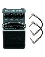 Rocktron Reaction Series Distortion 2 Guitar Effects Pedal with Patch Cables