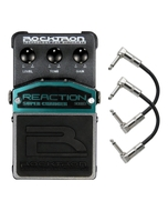 Rocktron Reaction Series Super Charger Guitar Effects Pedal with Patch Cables