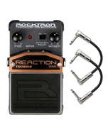 Rocktron Reaction Series Tremolo Guitar Effects Pedal with Patch Cables