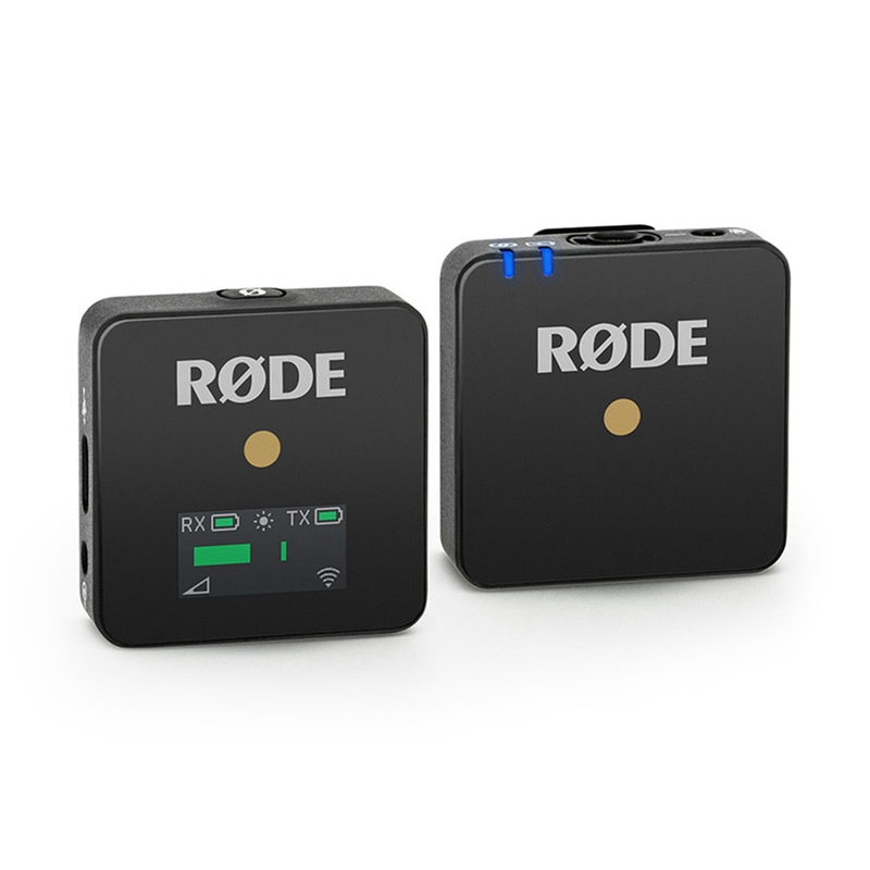 Rode Wireless GO Compact Wireless Microphone System w/ Built-In Mic, Black