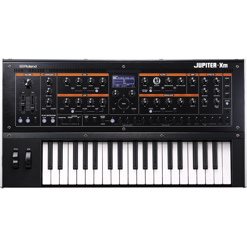 Roland Jupiter-Xm Portable Synthesizer, 37 Keys, MIDI & USB I/O, Mic Input, ZEN-Core Sound Generator