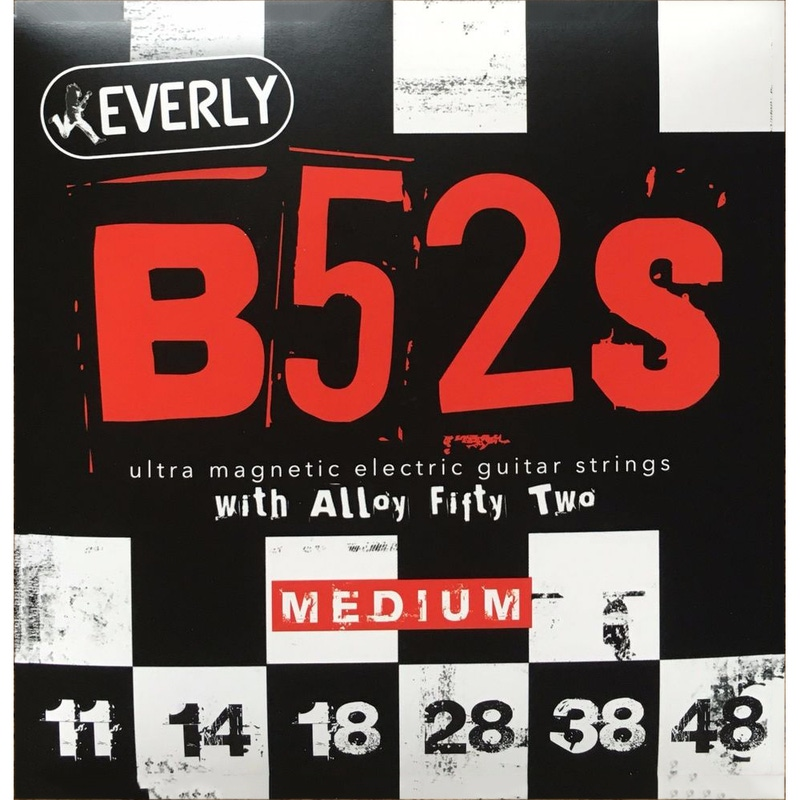 Everly B-52's Ultra Magnetic Electric Guitar Strings, Medium (11-48)