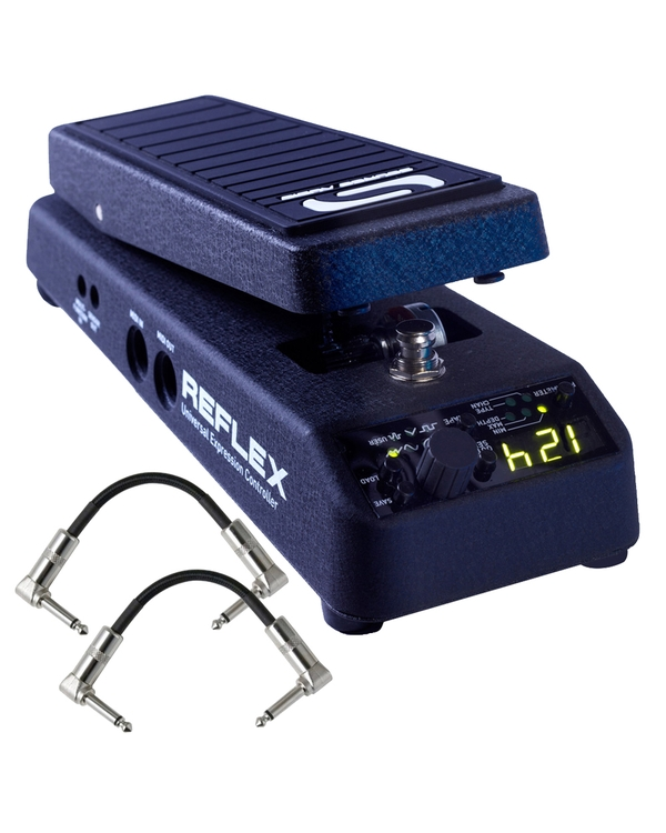 Source Audio SA163 Reflex Universal Expression Guitar Effect Pedal Controller with Patch Cables