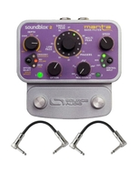 Source Audio SA223 Soundblox 2 SA223 MANTA Bass Filter Bass Guitar Effect Pedal with Patch Cables