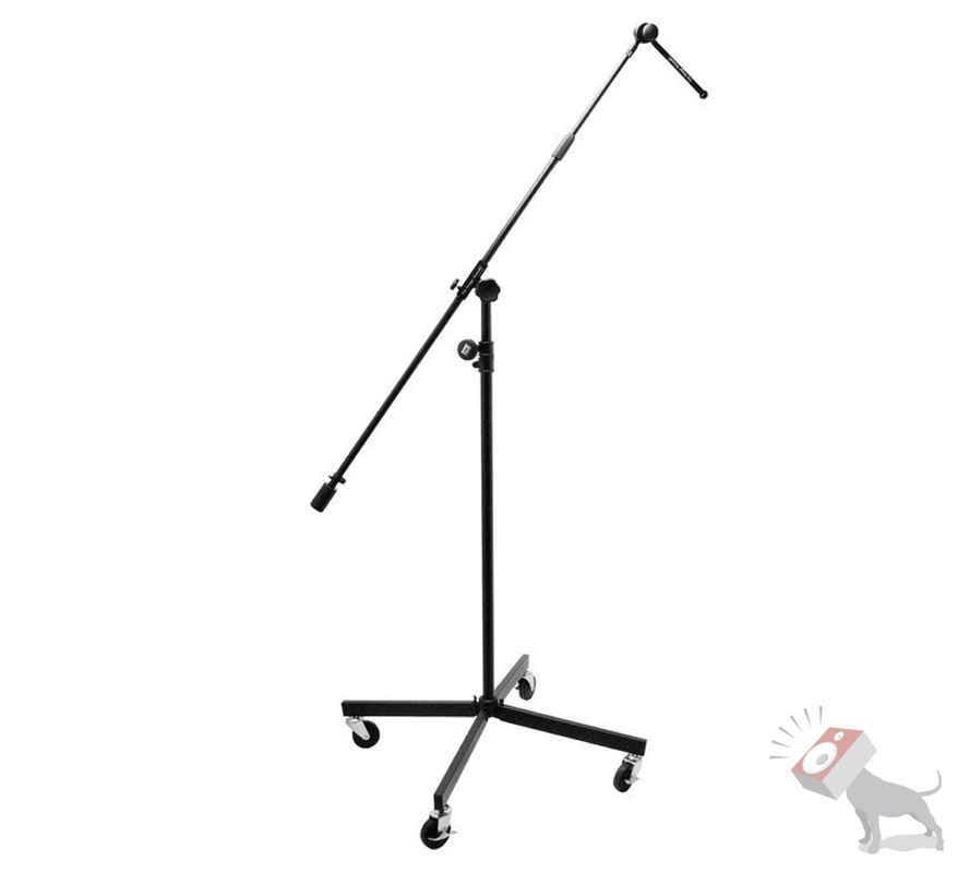On-Stage Stands SB96+ Studio Boom Microphone Mic Stand Casters Wheels SB96 Plus