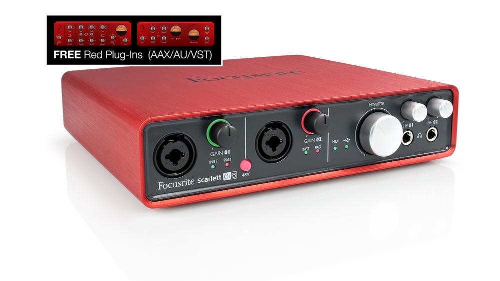 Focusrite Scarlett 6i6 USB 6x6 Computer Audio Recording Interface