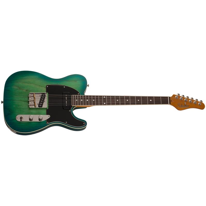 Schecter 668 PT Special Guitar, Rosewood Fretboard, Aqua Burst Pearl