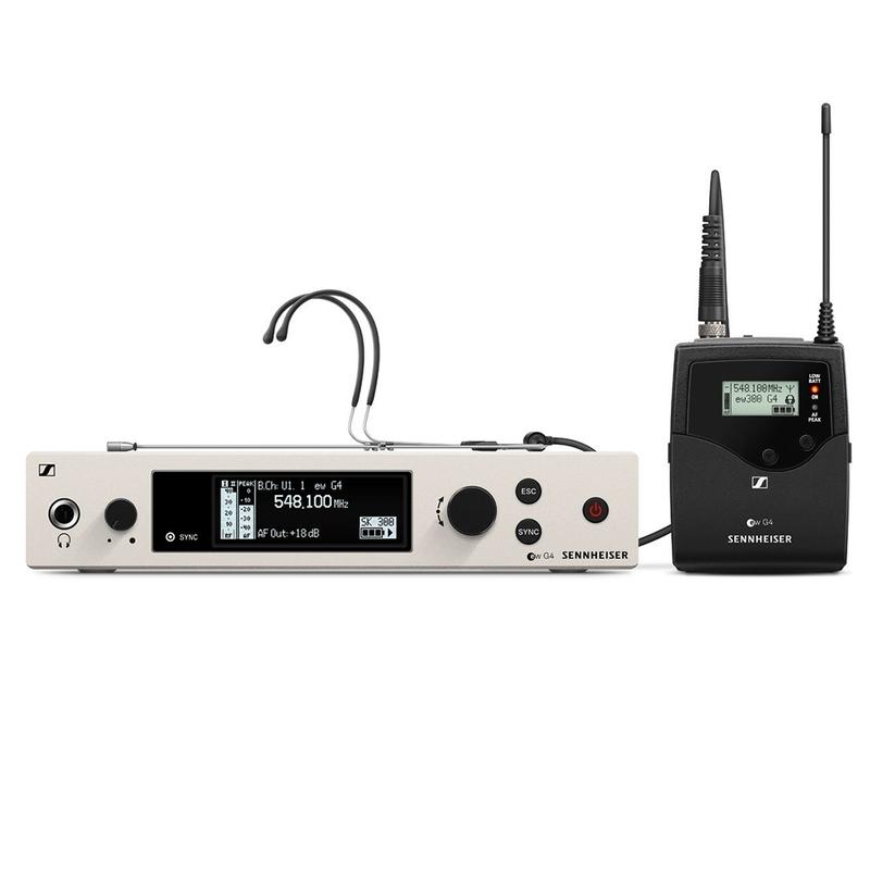 Sennheiser ew 300 G4-Headmic1-RC Wireless Bodypack Headmic System; GW1 (558-608 MHz)